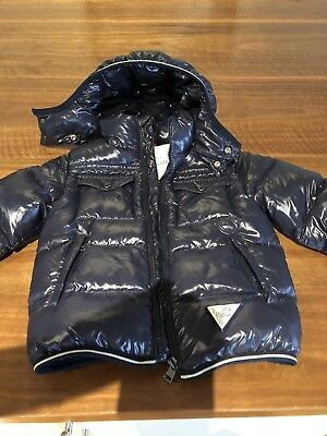 Authentic Moncler Children's Navy ski Jacket. Size 3-4 Boys Or Girls Waterproof