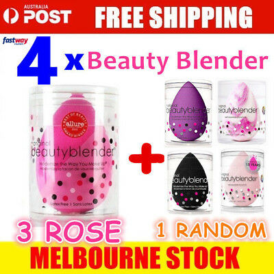 4 x The Original BeautyBlender Makeup Applicator Beauty Blender sponge -OZ Stock