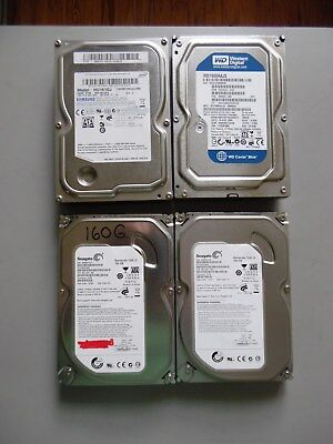 "LOT OF 4 160GB 7200 RPM 3.5"" PC Desktop SATA Hard Drive"