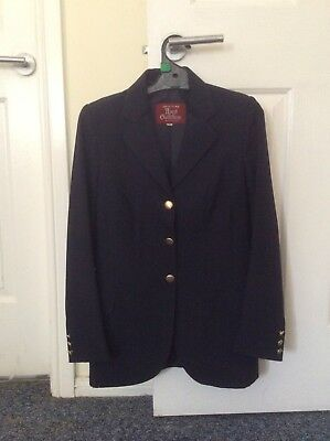 Ladies Ascot Navy horse riding show jacket Size 10