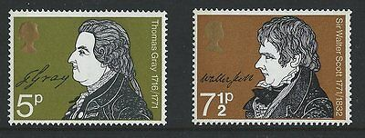 British Stamps SG 884 - 885 Literary Anniversaries
