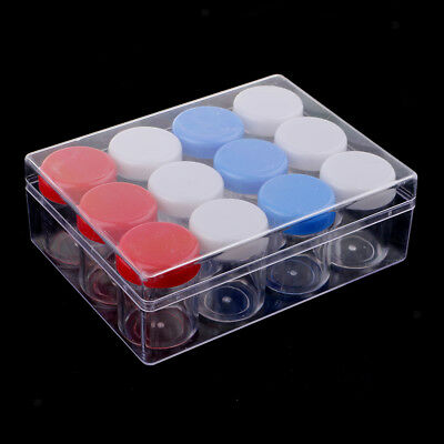 12Pcs Plastic Clear Storage Container Craft Jewelry Bead Box for Small Items