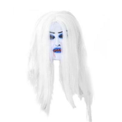 White Hair Bleeding Mask Ghost Festival Halloween Mask Masquerade Mask Party Sup