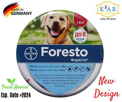 Bayer Seresto/Foresto Flea & Tick Collar For Large Dogs Over 8kg (18lbs)