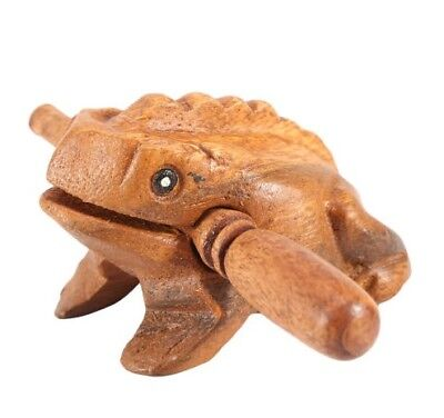 1 pc Wooden Croaking Frog Instrument Musical Sound Thailand Craft  Home Decor 3""
