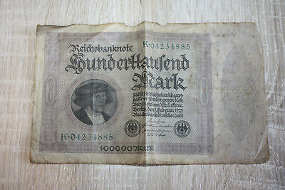 Reichsbanknote 100000 Mark Berlin 1.Februar 1923