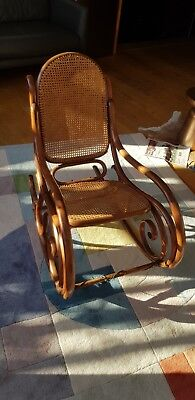 Edwardian antique rocking chair compact