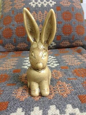 Sylvac Style Very Tactile Bunny Rabbit In A Biscuit Colour
