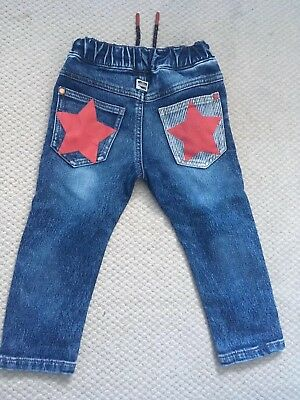 Next Boys Jersey Feel Soft Denim Jeans 1.5-2 Years 18-24 Months With STAR pocket