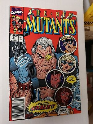 The New Mutants #87 Marvel 1991 Gold 2nd Print First Cable bonus 2x x-force 1