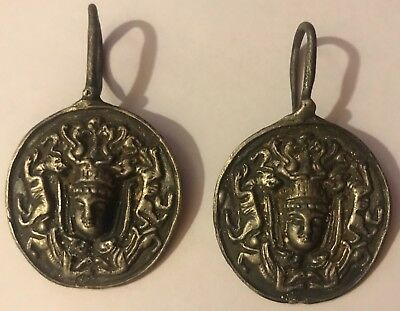 VIKING Ancient artifact - Silver bead earrings