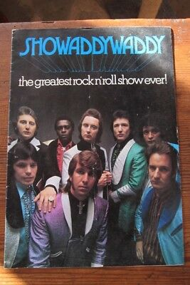Showaddywaddy programme 1974 debut tour