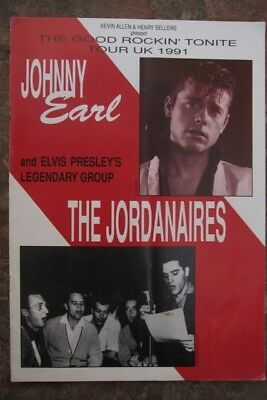 Johnny Earl and The Jordanaires (Elvis' backing singers) programme 1991 UK tour