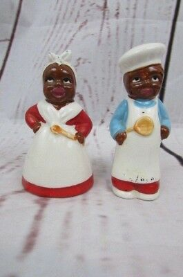 Vtg Collectible African American Salt & Pepper Shakers Early 1900's.