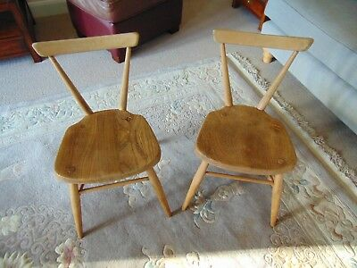 Pair of Vintage Ercol Childs Stacking Chairs