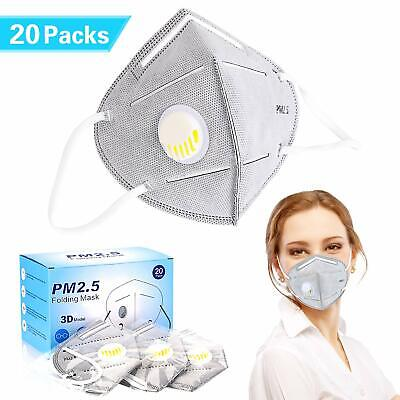Disposable Dust Masks Pack of 20 Anti Dust Pollen Face Covers Mouth Nosepiece