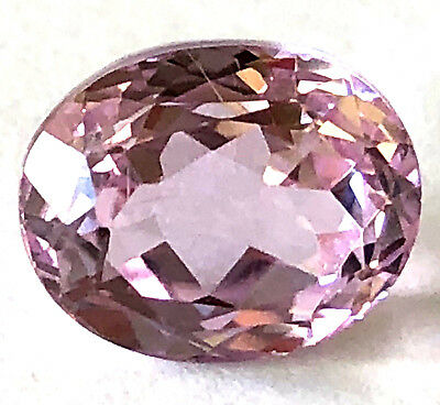 5.39 Ct Oval Cut Natural Pink Kunzite Loose Gemstone For Jewelry Design