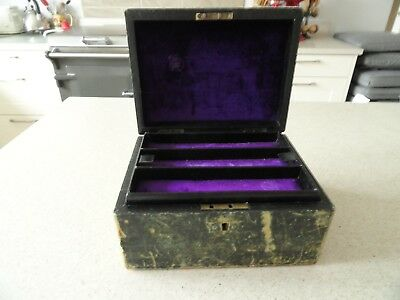 Victorian Jewellery Box with original lined compartments