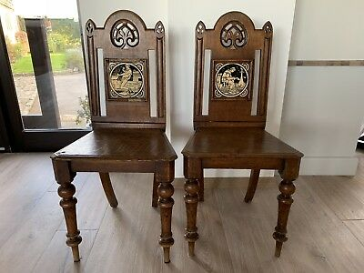 Antique Wooden Chapel Chairs