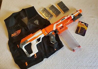 NERF N-STRIKE XD Elite Stryfe Loadout. Modulus Parts. 30 Darts & Batteries