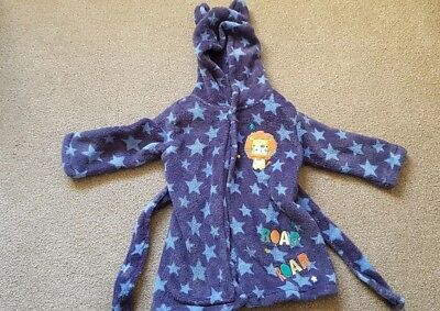 Baby Boy 6-9 Months Blue Dressing Gown