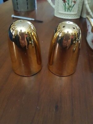 Crown Devon Cruet Set Gold China