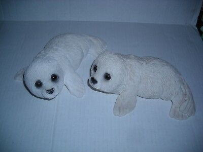 Baby Harp Seal Figurines 2 Total Classic Critters Collection So Cute!