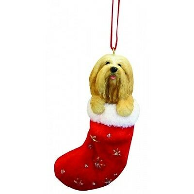 Lhasa Apso Santa's Little Pals Dog Christmas Ornament