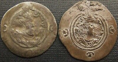 Sasanian Kings, A job lot of 2 silver drachms; dark toned.