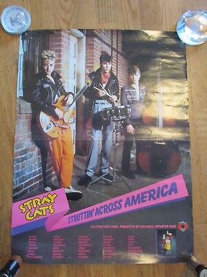 1983 Original Stray Cats Concert  Poster