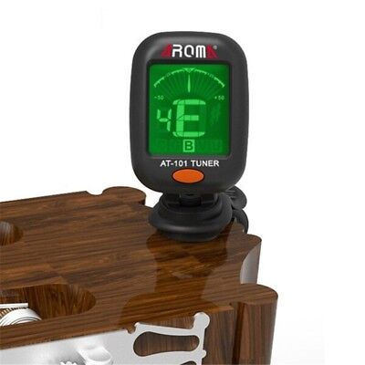 AROMA AT-101 Portable Mini Clip-on Digital Tuner with Foldable Rotating Clip