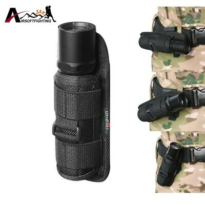 Tactical Molle 360 Degrees Rotatable Flashlight Holster Pouch Holder 15cm Waist