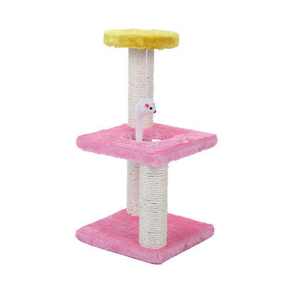 40cm Cat Scratcher Post Scratching Poles Tree Toy Multi Level Play Stand AU