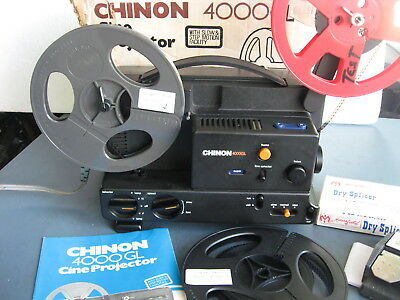 Reg 8mm/Super 8 Vari-Spd  Projector--Xtras-  Film Tested!