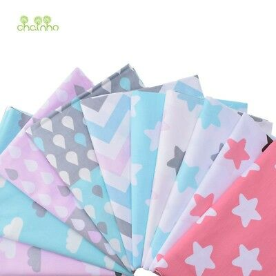 10pcs Print Twill Cotton Fabric For Sewing Doll Baby Bedding Clothes Dress