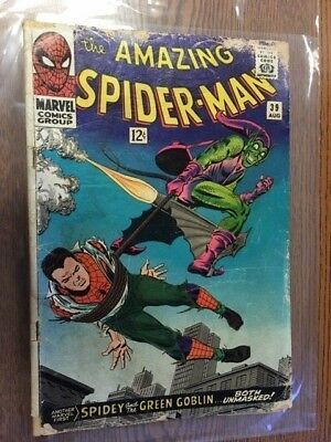 Amazing Spider-Man #39 Unmasking Of Green Goblin MARVEL