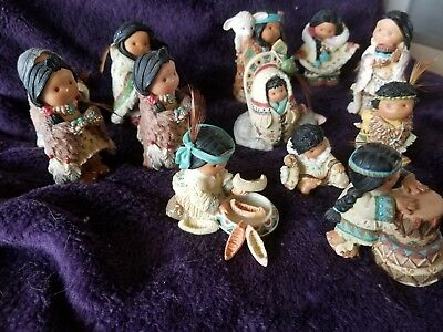 "Retired  Enesco ""12 Pc Lot"" Friends Of The Feather Figurine"