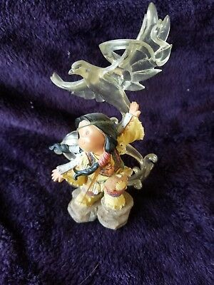 "Retired 1999 Enesco ""spirit Messenger"" Friends Of The Feather Figurine"