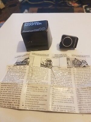 Olympus Manual Adapter - for Olympus OM10~WITH ORIGINAL BOX & INSTRUCTIONS
