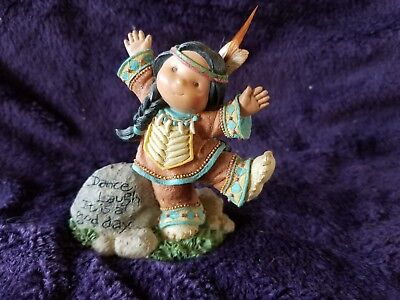 "Retired Enesco ""dance Laugh It Is A Good Day "" Friends Of The Feather Figurine"