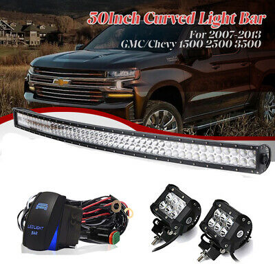 FOR GMC CHEVY SILVERADO 1996-2006 led light bar brackets fit 50 inch curved