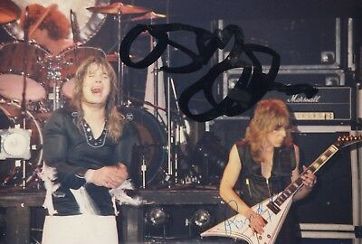 RANDY RHOADS / OZZY OSBOURNE autographed photo with letter of authenticity RARE!