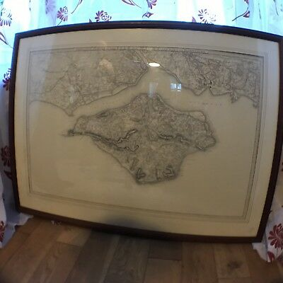 Large Print Of An Ordenance Survey Map Of The Isle Of Wight and Surrounding Area
