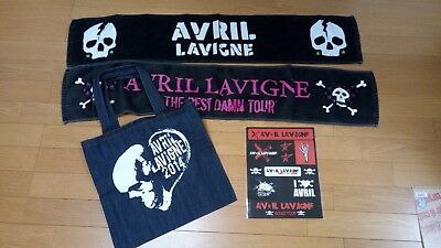 avril lavigne tour merchandise towel sticker bag