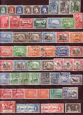 Nice Collection Aden Mix Used-Unused 55 Stamps