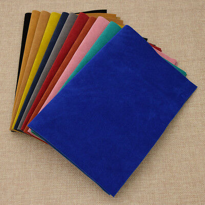 A4 Faux PU Leather Solid Fabric Sewing Artificial Synthetic DIY Craft Supplies