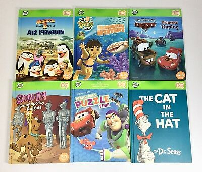 Lot Of 6 Leap Frog Tag Reader Books Condition Is Excellent
