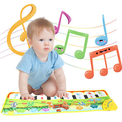 Touch Play Keyboard Musical Music Singing Gym Carpet Mat Toy Best Kids Baby USPS