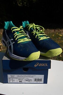 Asics Gel-Solution Speed 3 Clay Tennisschuh, NEU !, OVP - Gr. 41.5 (US 8)