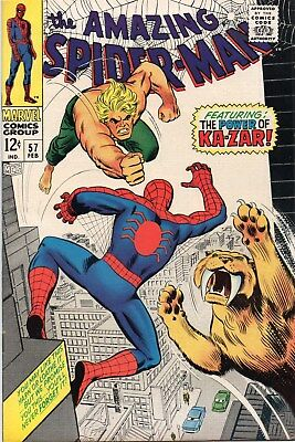 Amazing Spider-Man 57 Silver Age (1968) The Coming Of Ka-Zar